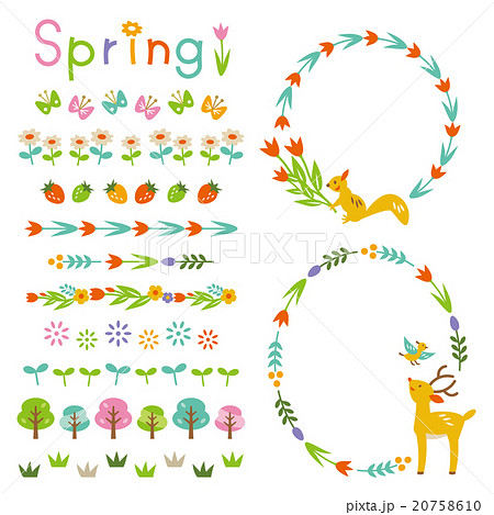 Spring frame and decorations 20758610