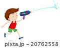 Boy playing with water gun 20762558