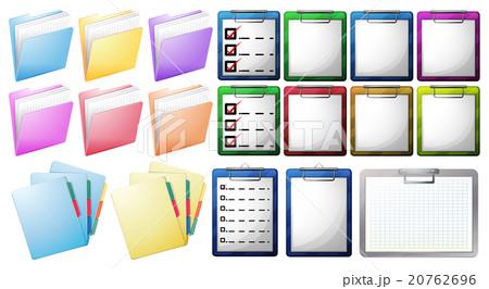 Files on clipboard and foldersのイラスト素材 [20762696] - PIXTA