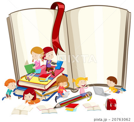 Children reading books togetherのイラスト素材 [20763062] - PIXTA