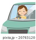 車 運転 女性のイラスト 20763120