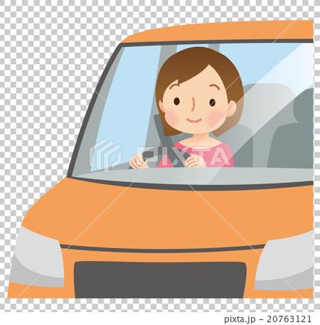 車を運転する女性 20763121