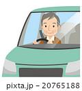 車の運転をする高齢者 男性 20765188