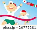 運動会 競争 ゴールのイラスト 20772281