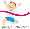 運動会 競争 ゴールのイラスト 20772282