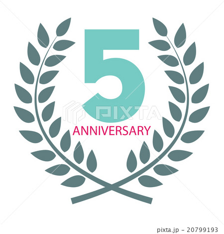 template logo 5 anniversary in laurel wreathのイラスト素材 20799193