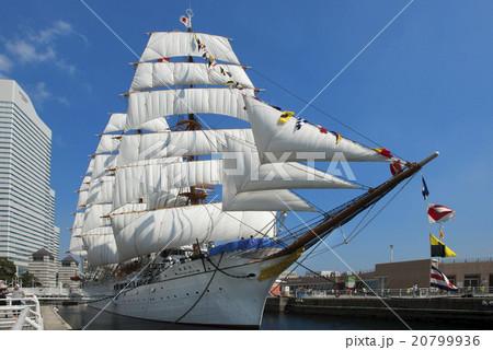 帆船日本丸の総帆展帆・満船飾 20799936
