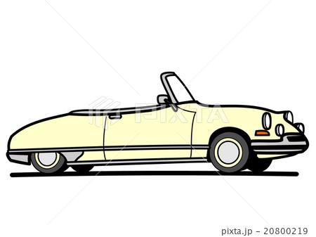 旧いオープンカー ホワイト 20800219