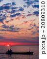 太平洋から昇る太陽 (フェリーの甲板から) 20809310