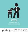 投票用紙 VOTE 投票のイラスト 20813530