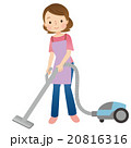 掃除機 女性 主婦のイラスト 20816316