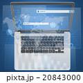 探す 検索 ノートパソコンのイラスト 20843000