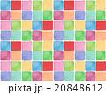 春 背景素材 模様 タイル柄 かわいい 赤色 イラスト 正方形 テクスチャ ファブリック柄 壁紙 20848612