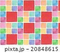 カラフル 鮮やか 春 背景素材 背景イラスト パターン タイル柄 模様 かわいい 赤色 水彩画  20848615