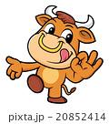 雄牛 動物 牛のイラスト 20852414
