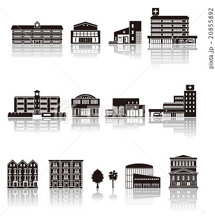 建物アイコン / シルエット