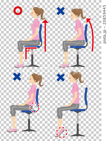 椅子 姿勢 20859445