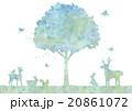 木と動物のイラスト 20861072