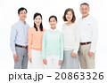家族 三世代 人物の写真 20863326
