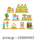Spring and Flowers. Vector Illustration Set 20869493