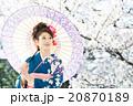 桜 着物 和服の写真 20870189