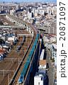 新幹線と都市風景 20871097