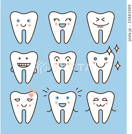 Tooth icons set, dental collection 20883989