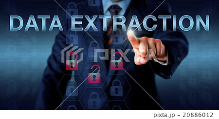 Forensics Expert Pushing DATA EXTRACTIONの写真素材 [20886012] - PIXTA