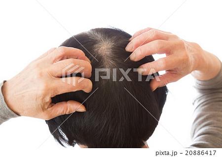 シニア女性の頭髪 20886417
