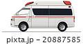 救急車 自動車 乗り物のイラスト 20887585
