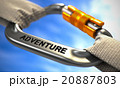 Chrome Carabiner Hook with Text Adventure. 20887803