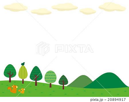 山と緑のイラストのイラスト素材 20894917 Pixta