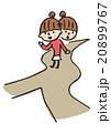 道に迷う女性 20899767