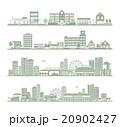 都市 シルエット 20902427