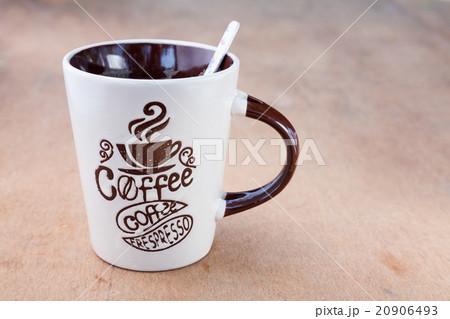 coffee Mug with a spoonの写真素材 [20906493] - PIXTA