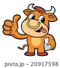 マンガ 漫画 雄牛のイラスト 20917598