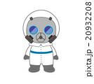 ガスマスクをつけた防護服の人 20932208