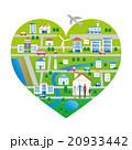 街 街並み 家族のイラスト 20933442