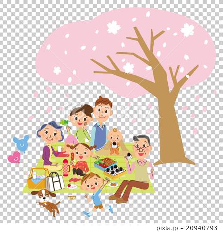 세 가족 꽃놀이 20940793