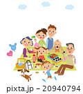家族 ピクニック 笑顔のイラスト 20940794
