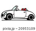 小さなオープンカー ホワイト 20953109