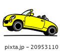 小さなオープンカー イエロー 20953110