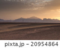 Sunset behind the mountains in the desert, Egypt 20954864