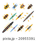 Rafting Kayaking Top View Set 20955391