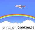 青空の虹と飛行機 20959084