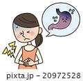 妊婦 胃痛 人物のイラスト 20972528