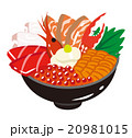海鮮丼 丼 日本食のイラスト 20981015