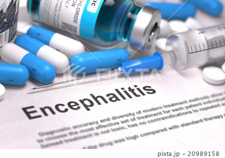 Diagnosis - Encephalitis. Medical Concept. 20989158
