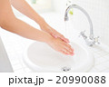 洗面台 手洗い 手の写真 20990088