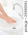 洗面台 手洗い 手の写真 20990091
